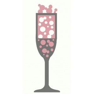 Champagne flute tats silhouette. Champaign clipart bubbly