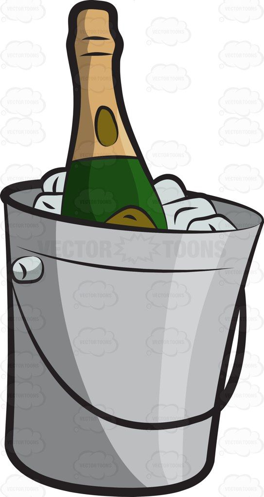 A chilled bottle of. Champaign clipart cartoon