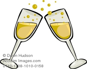Two champagne glasses making. Champaign clipart cartoon