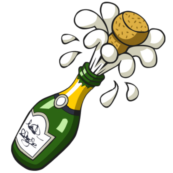 Champaign clipart cartoon. Champagne bottle