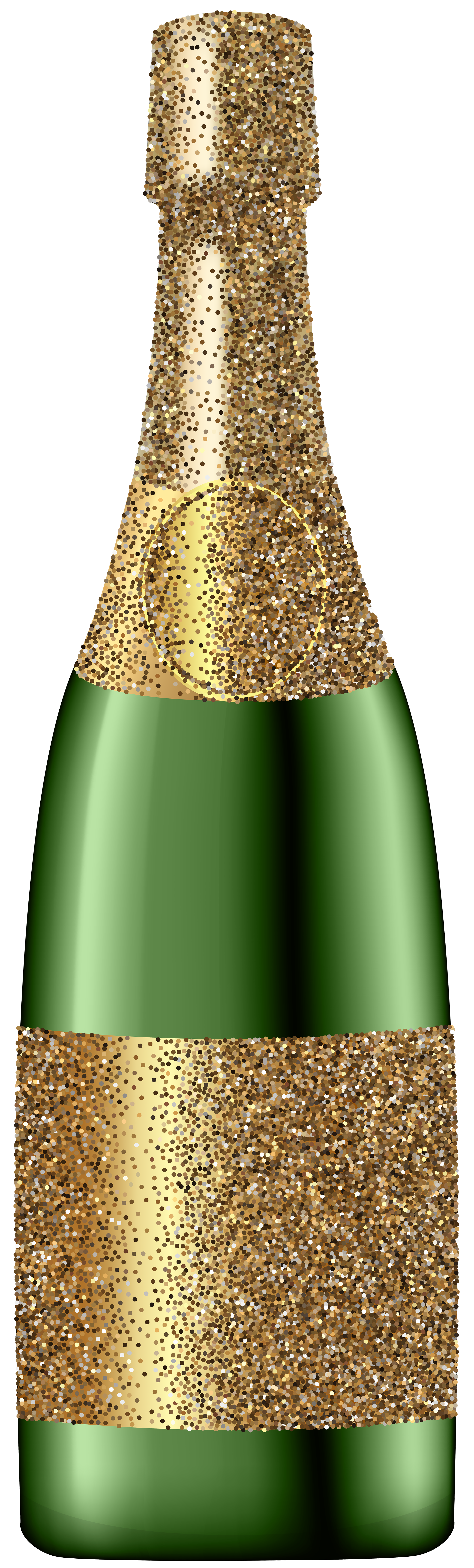Glitter champagne bottle png. Champaign clipart christmas