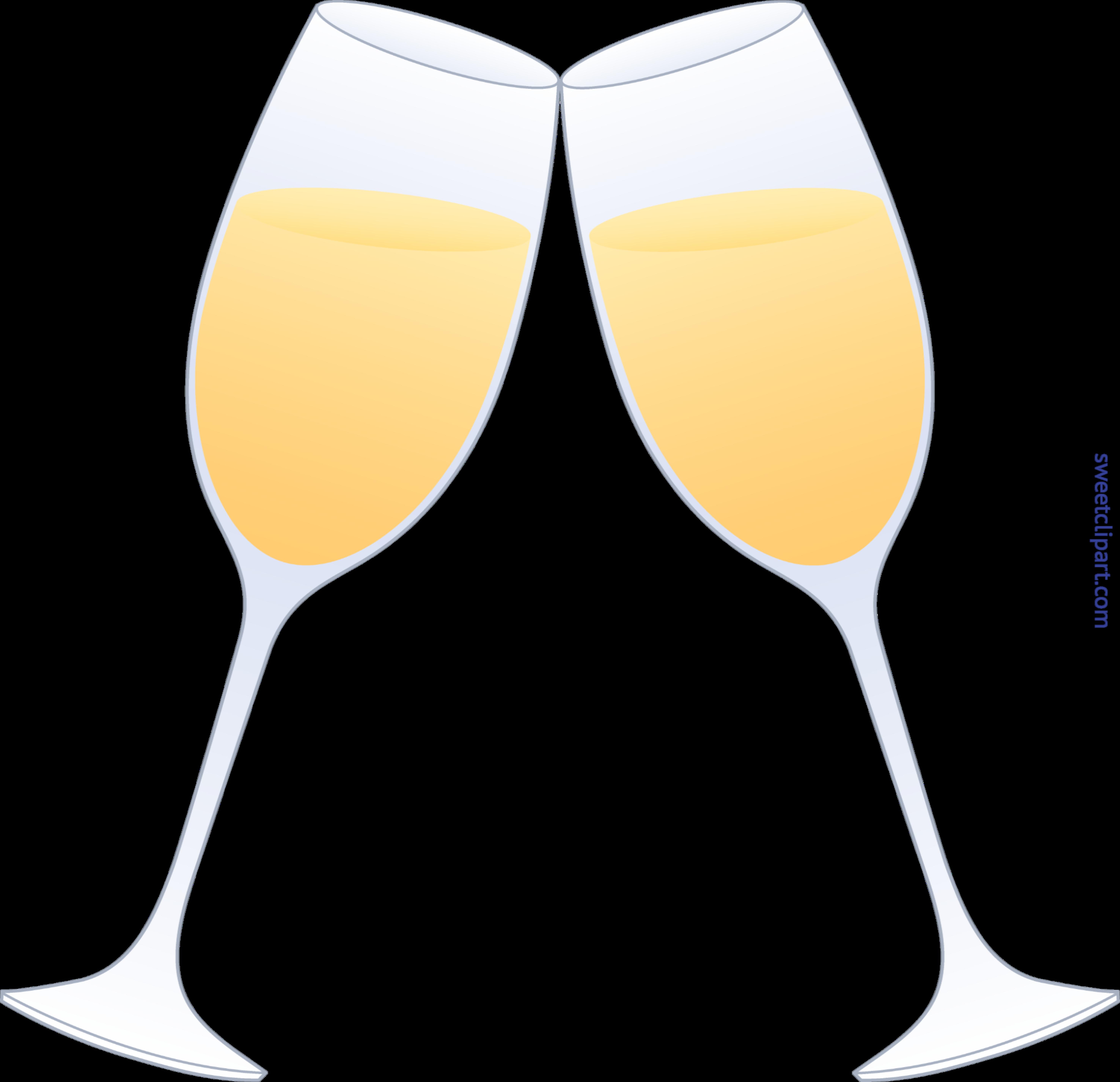 Champagne glasses clip art. Flutes clipart svg