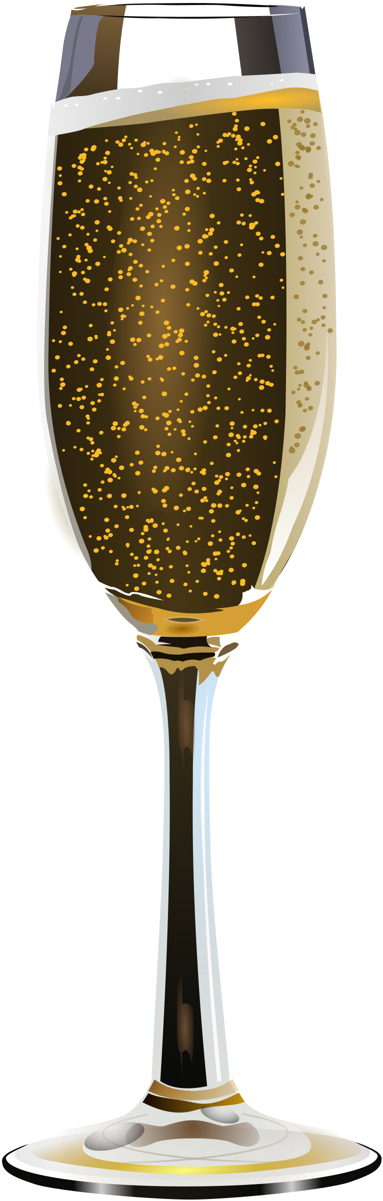 gold clipart champagne glass