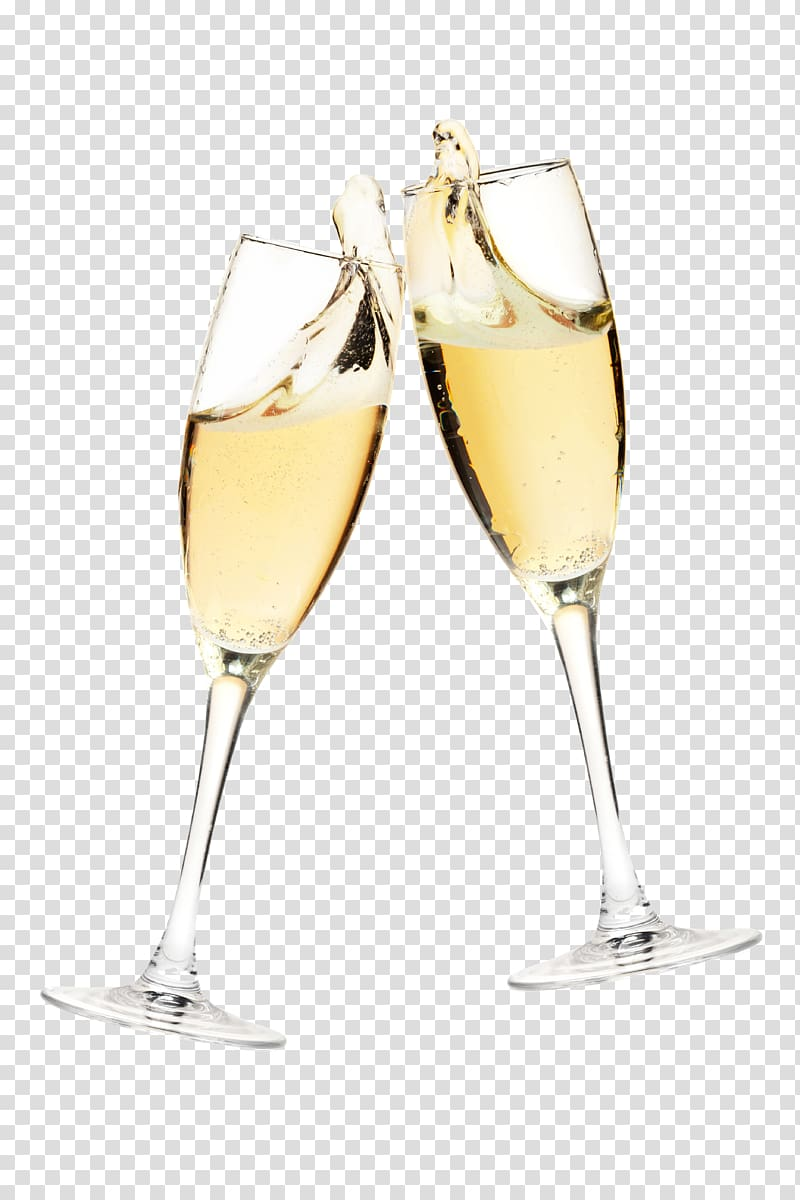 Two wine glass sparkling. Champagne clipart champagne cocktail