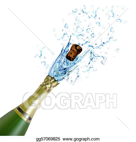 Vector art explosion of. Champagne clipart champagne cork
