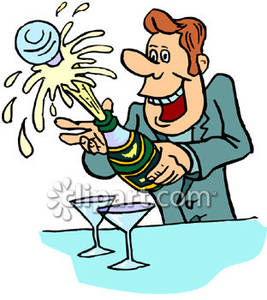 Champagne clipart champagne cork. Man popping the on