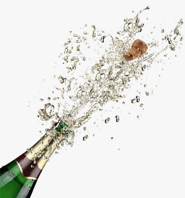 Spraying good wine png. Champagne clipart champagne cork