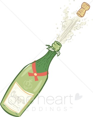 Champagne ceremony. Champaign clipart wedding