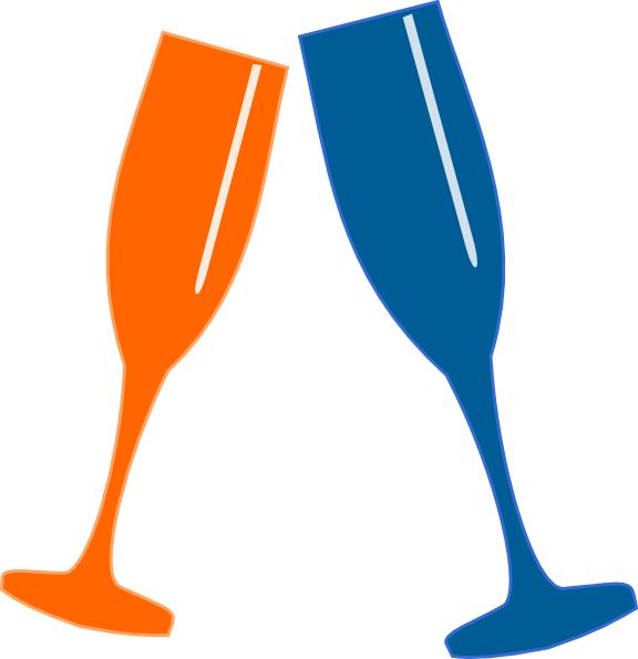 Champagne glasses clip art. Flutes clipart file