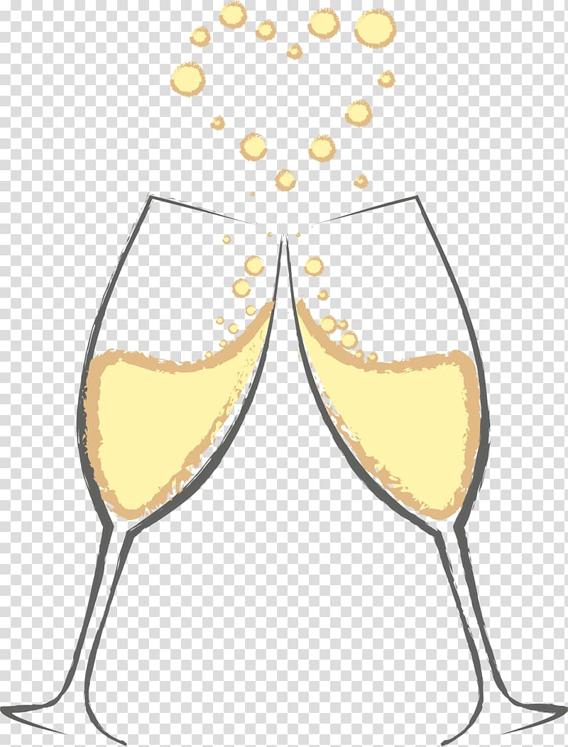 Champaign clipart champange. Two wine flutes making