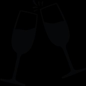 Champaign clipart black and white. Graphic free stock champagne