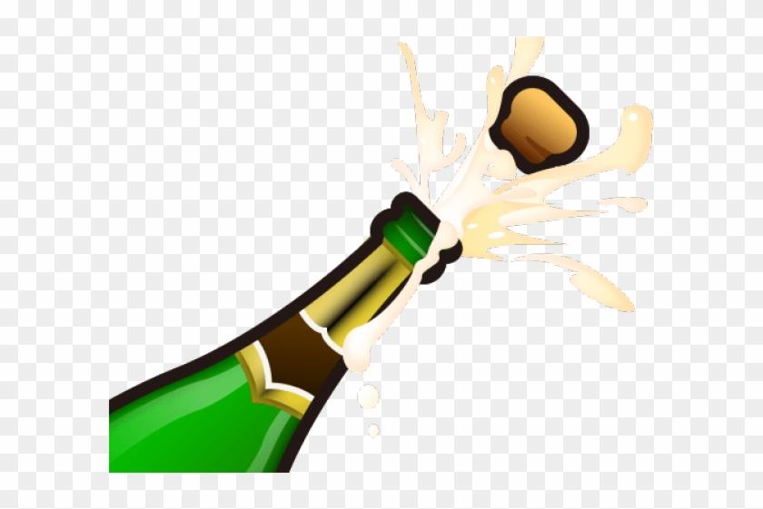 Champagne clipart champagne pop. Emoji bottle png