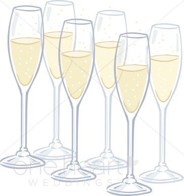 Champagne flutes wedding drinks. Champaign clipart toasting glass