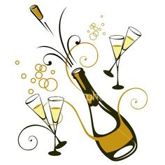 Champagne clipart champagne word. Conceptual vector illustration of