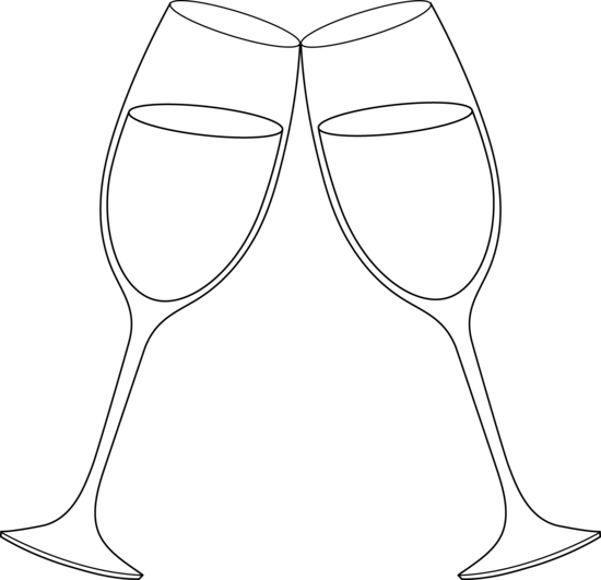 Champaign clipart wine glass. Free clip art for