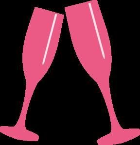 Champaign clipart champange. Champagne glass lite pink