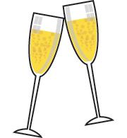Champagne . Champaign clipart champaigne
