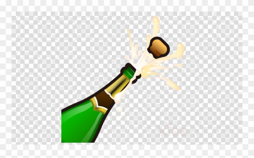 Emoji bottle png clip. Champagne clipart champange