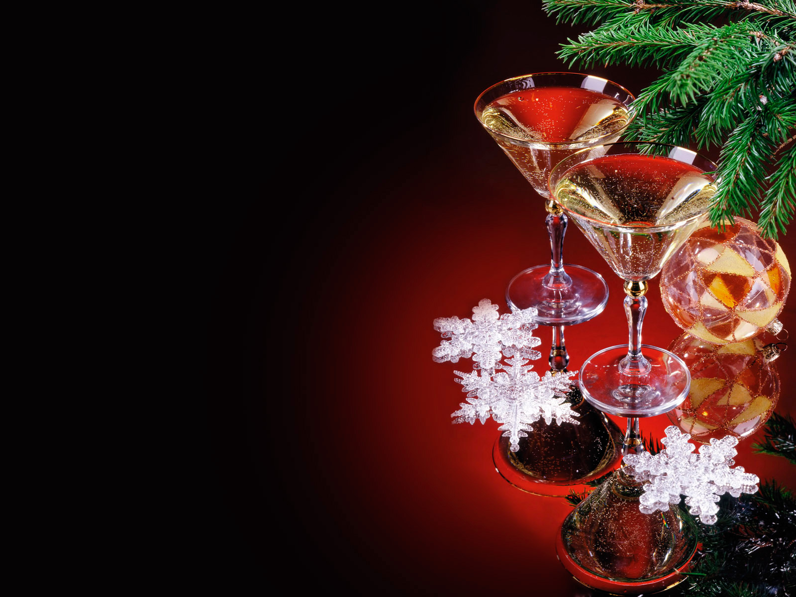 Red background with champagne. Champaign clipart christmas