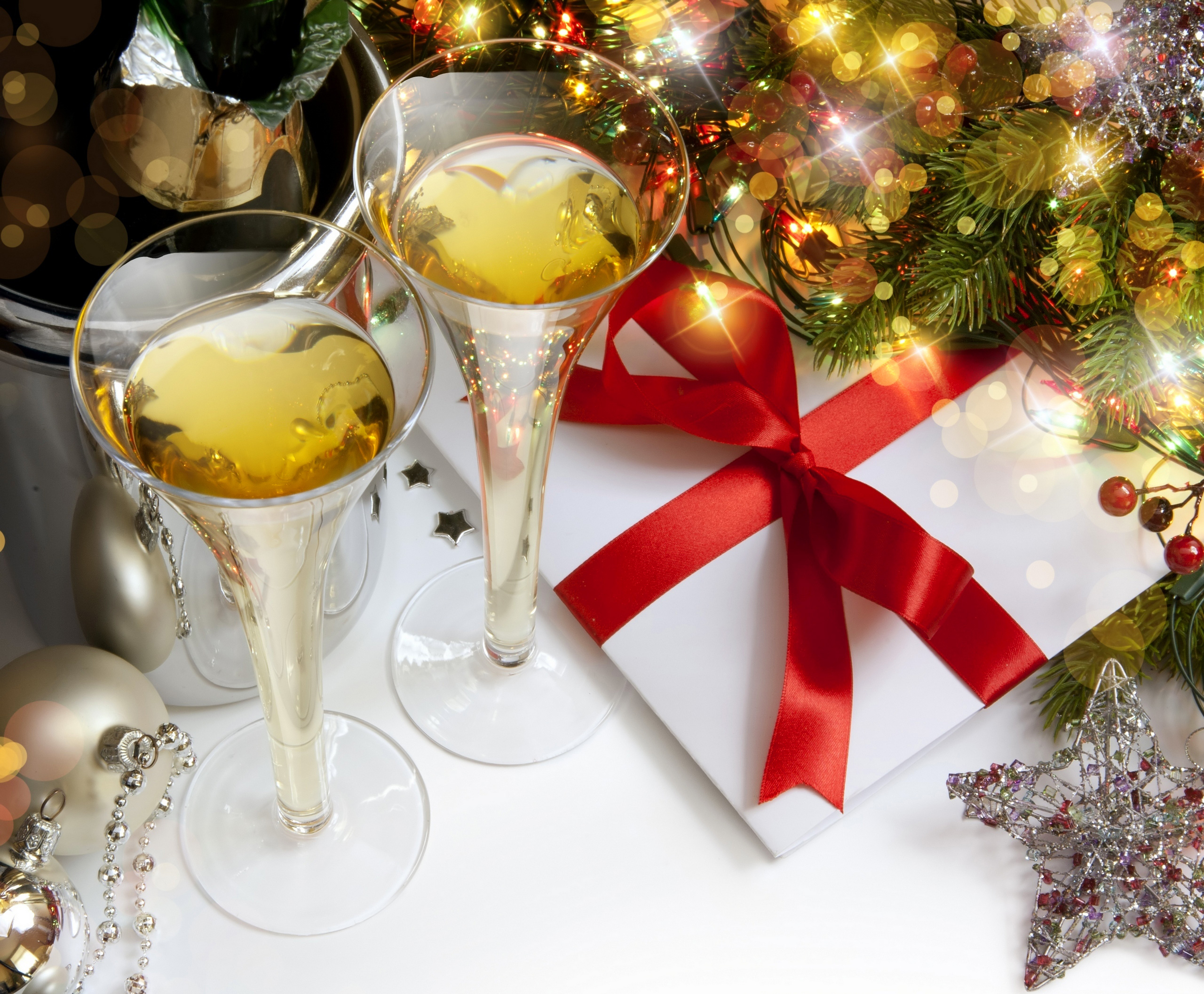 Champaign clipart christmas. Background with champagne glasses