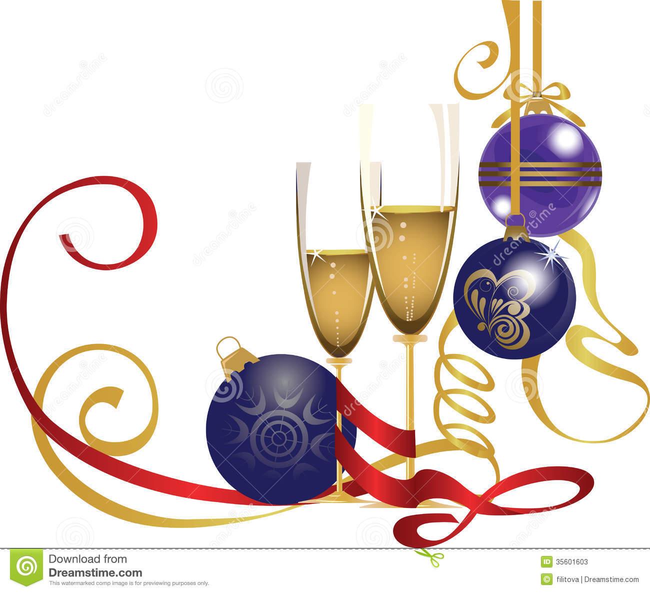 Portal . Champagne clipart christmas