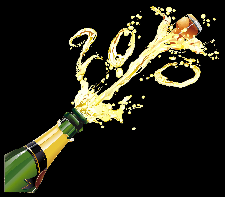 Pop transparent stickpng. Champagne bottle png
