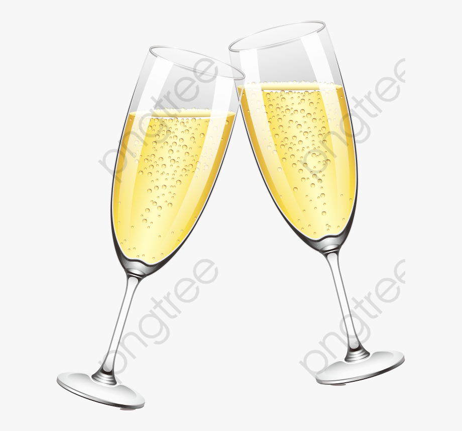 Glass illustrator . Champagne clipart clear background