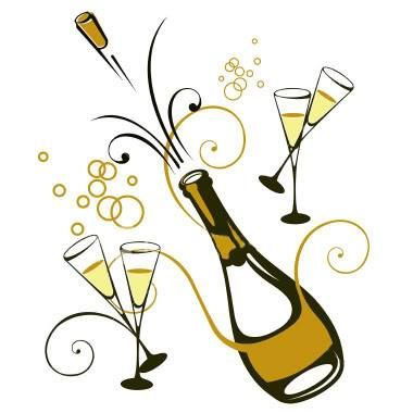 champaign clipart anniversary party #41310047