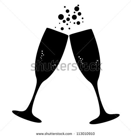 Champagne clipart file. Conceptual vector illustration of