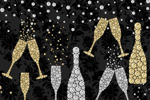 Diamond overlays photos graphics. Champagne clipart glitter