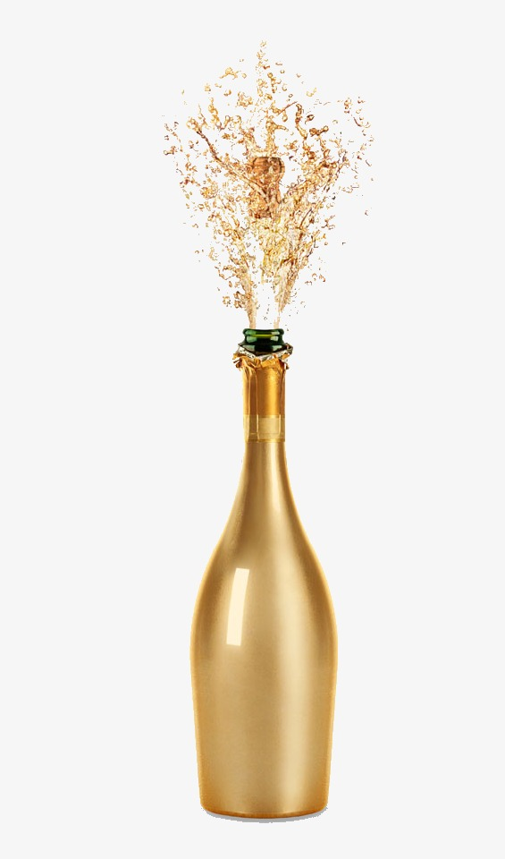 Champagne clipart gold champagne. Golden wine png image