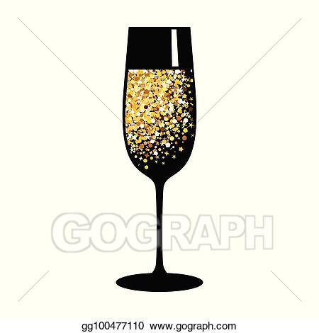 Eps illustration champagne gold. Champaign clipart vector