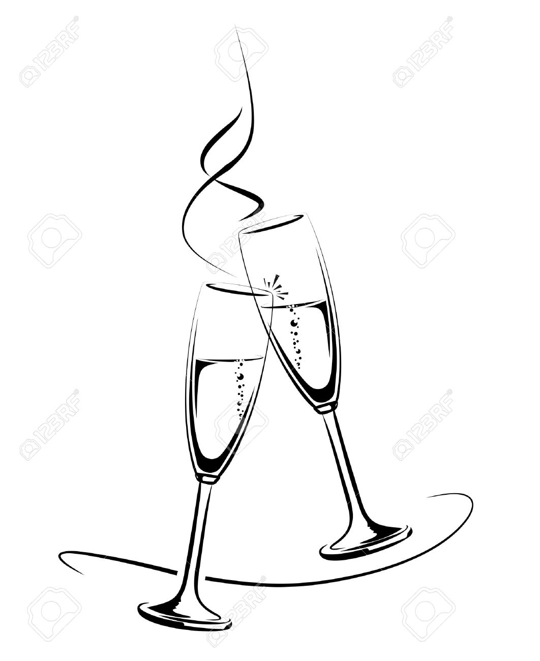 Champaign clipart champagne clink. Bottle drawing at getdrawings