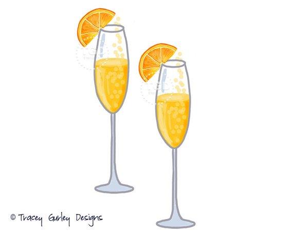 Mimosa Clip Art Champagne clip art watercolor clip art