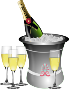 Champagne year s celebration. Champaign clipart new years eve