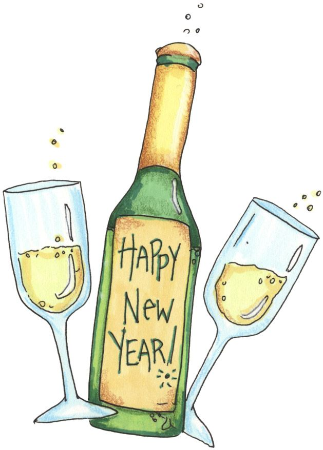 champaign clipart new years eve #41309200