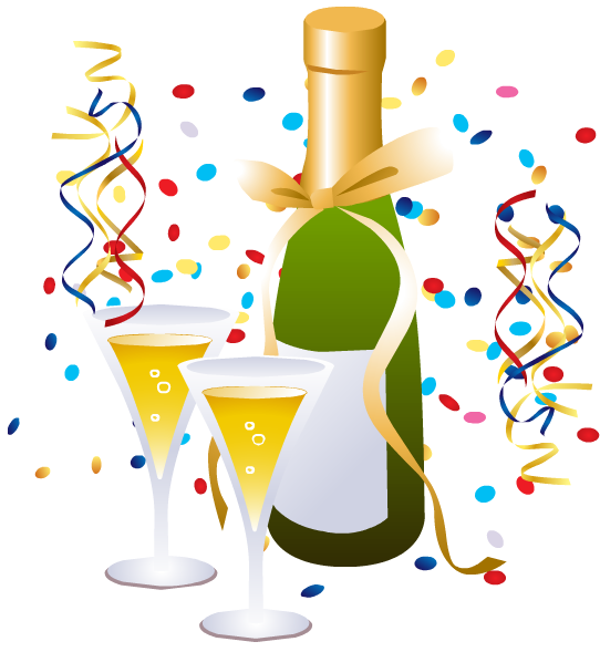 Free happy year download. Champaign clipart new years eve