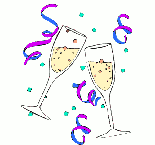 Party champagne glass pencil. Champaign clipart animated
