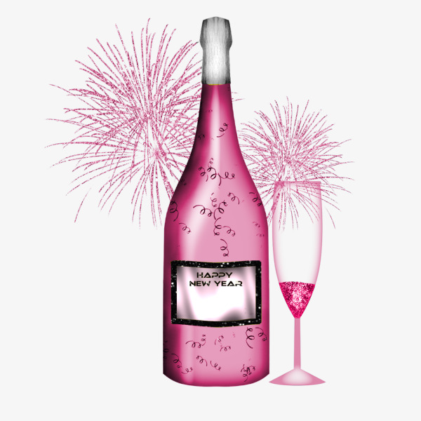 champagne clipart pink champagne