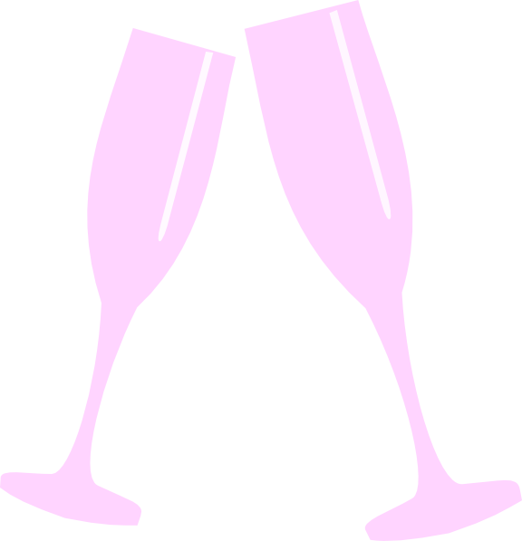 Glass clip art at. Champagne clipart pink champagne