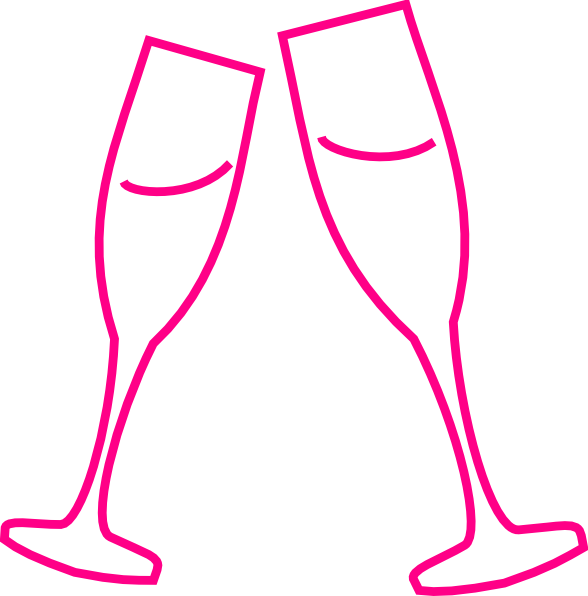 Champagne glass pink clip. Glasses clipart safety