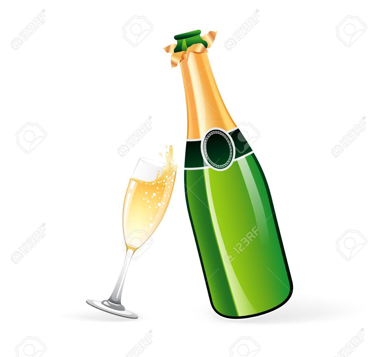 popping champagne bottle isolated cartoon vector illustration Stock Vector  Image & Art - Alamy
