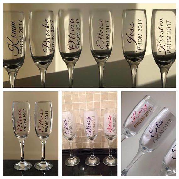 Personalised flutes gifts accessories. Champagne clipart prom