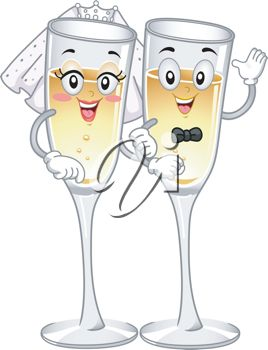 best images on. Champaign clipart wedding