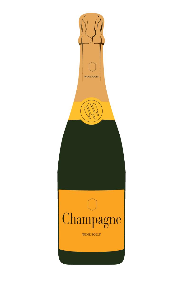 Champagne vs the real. Champaign clipart prosecco