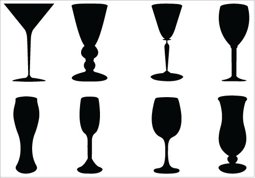 At getdrawings com free. Champagne clipart silhouette