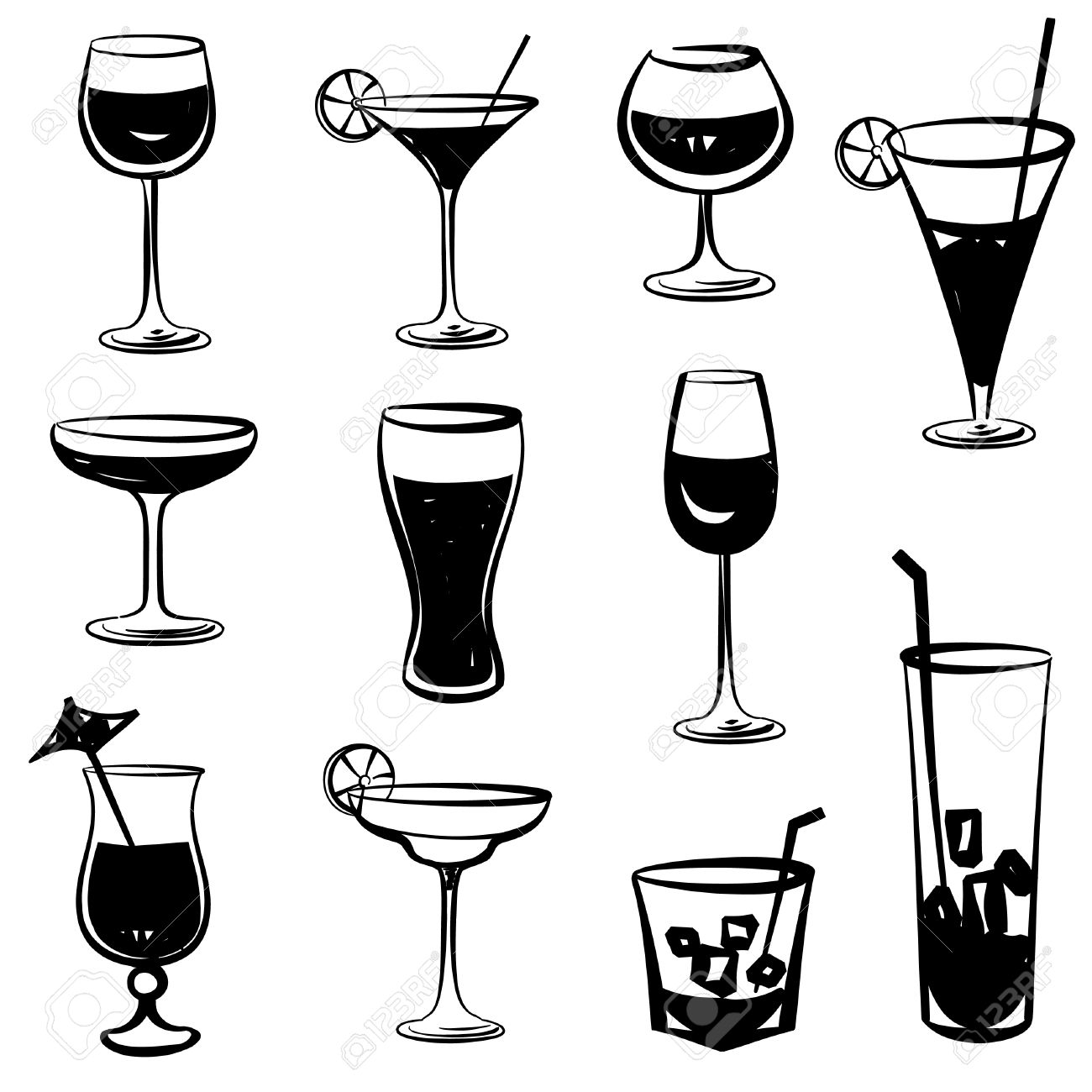Glass at getdrawings com. Champagne clipart silhouette