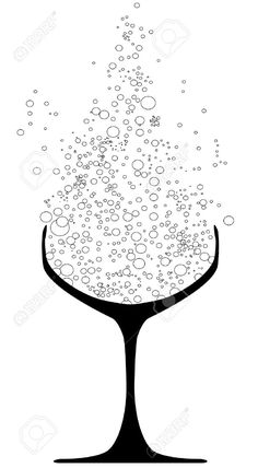 Champagne clipart silhouette. Royalty free stock images