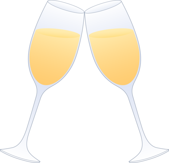Glasses of champagne clinking. Champaign clipart toasting glass