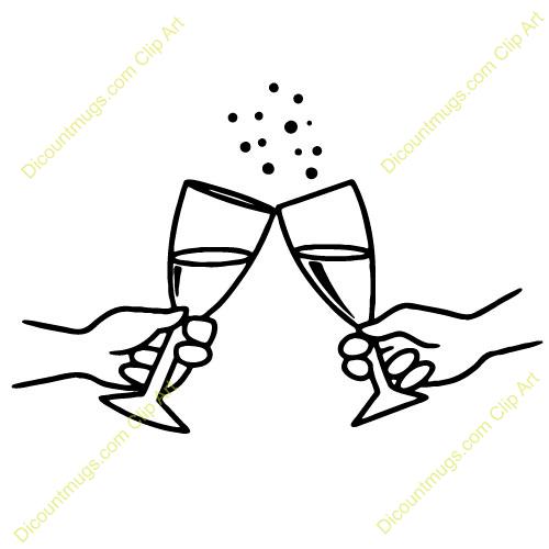 Glasses . Champaign clipart toasting glass